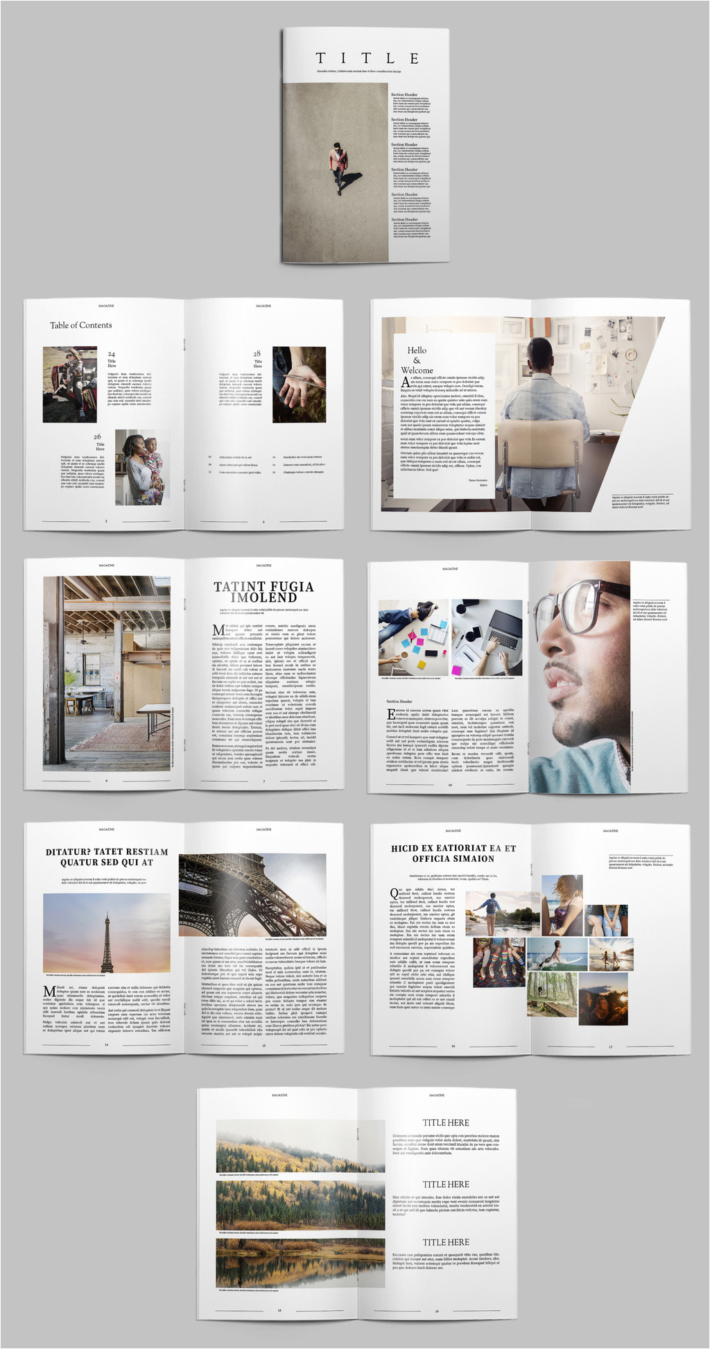 free indesign magazine templates