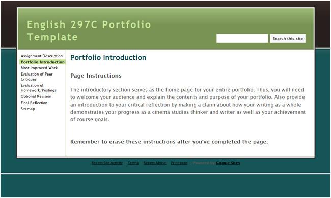 e portfolio powerpoint template