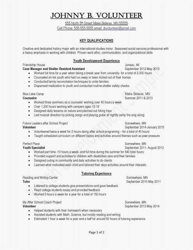resume layout