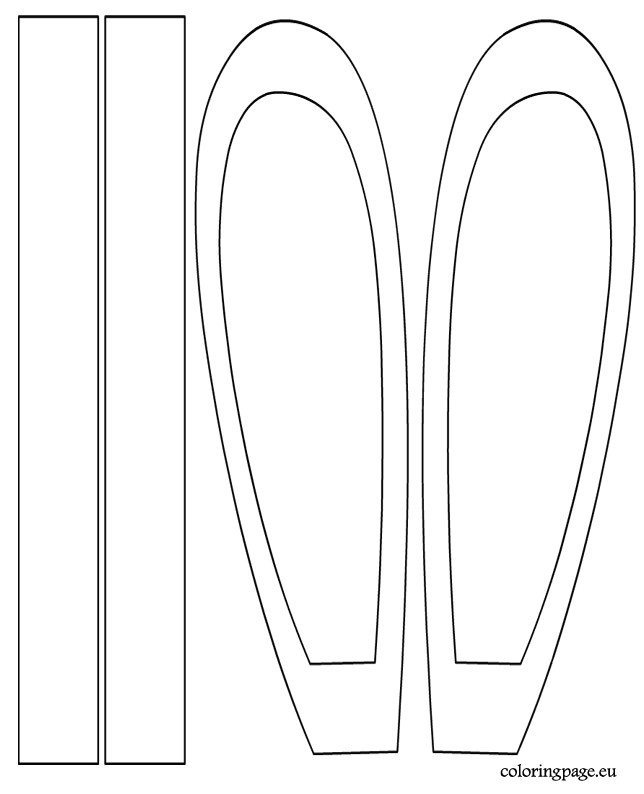 bunny headband template
