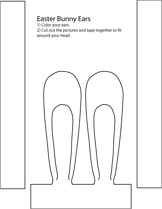 Easter Bunny Hat Template Cidyjufun Easter Bunnies to Color In