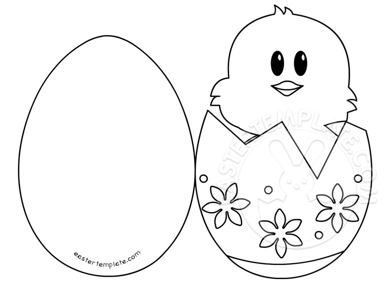 easter ideas chick egg card