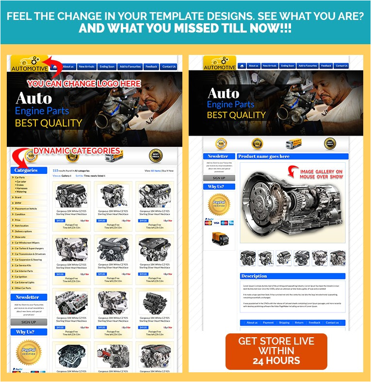 auto parts professional ebay templates item description template ebay design