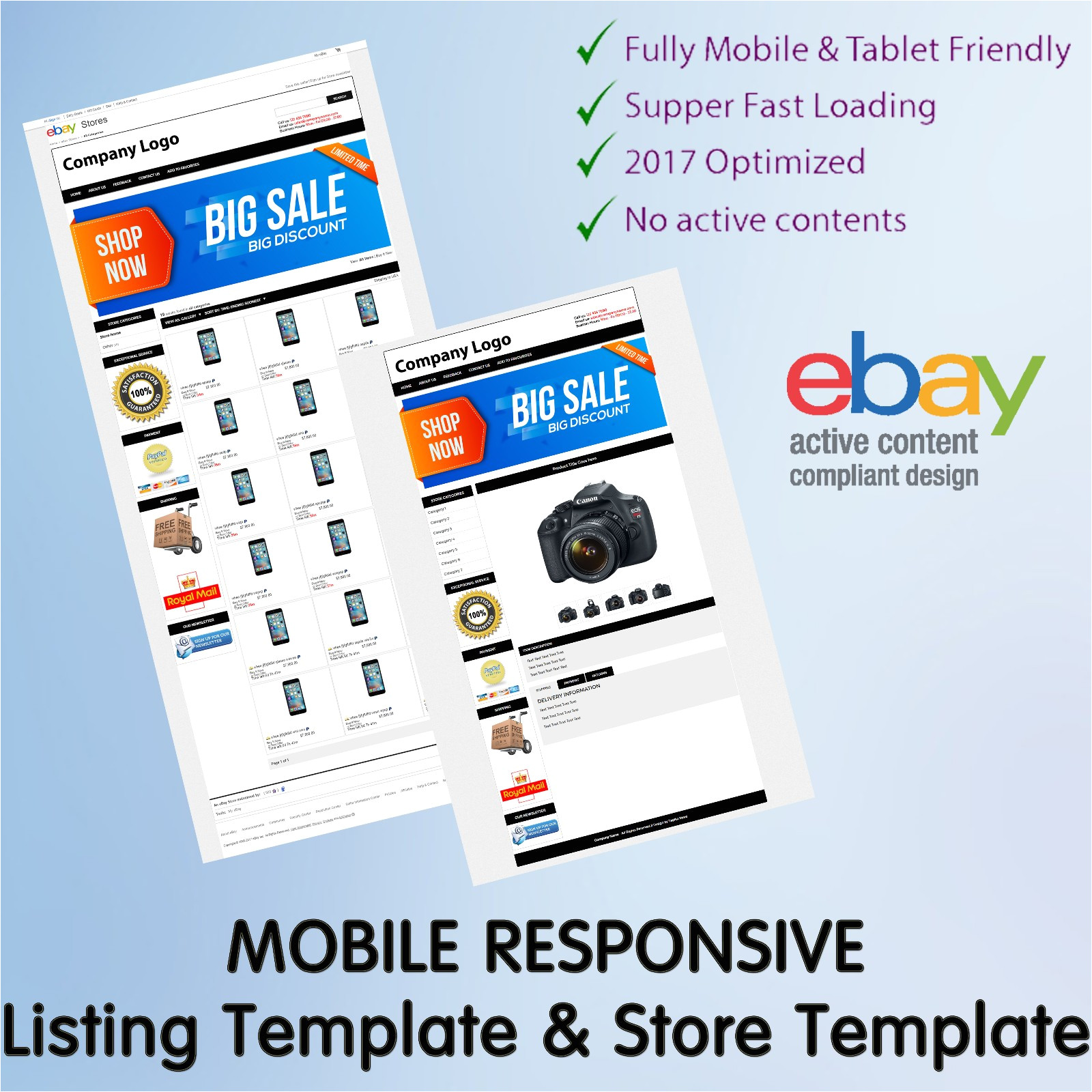 ebay item description template free