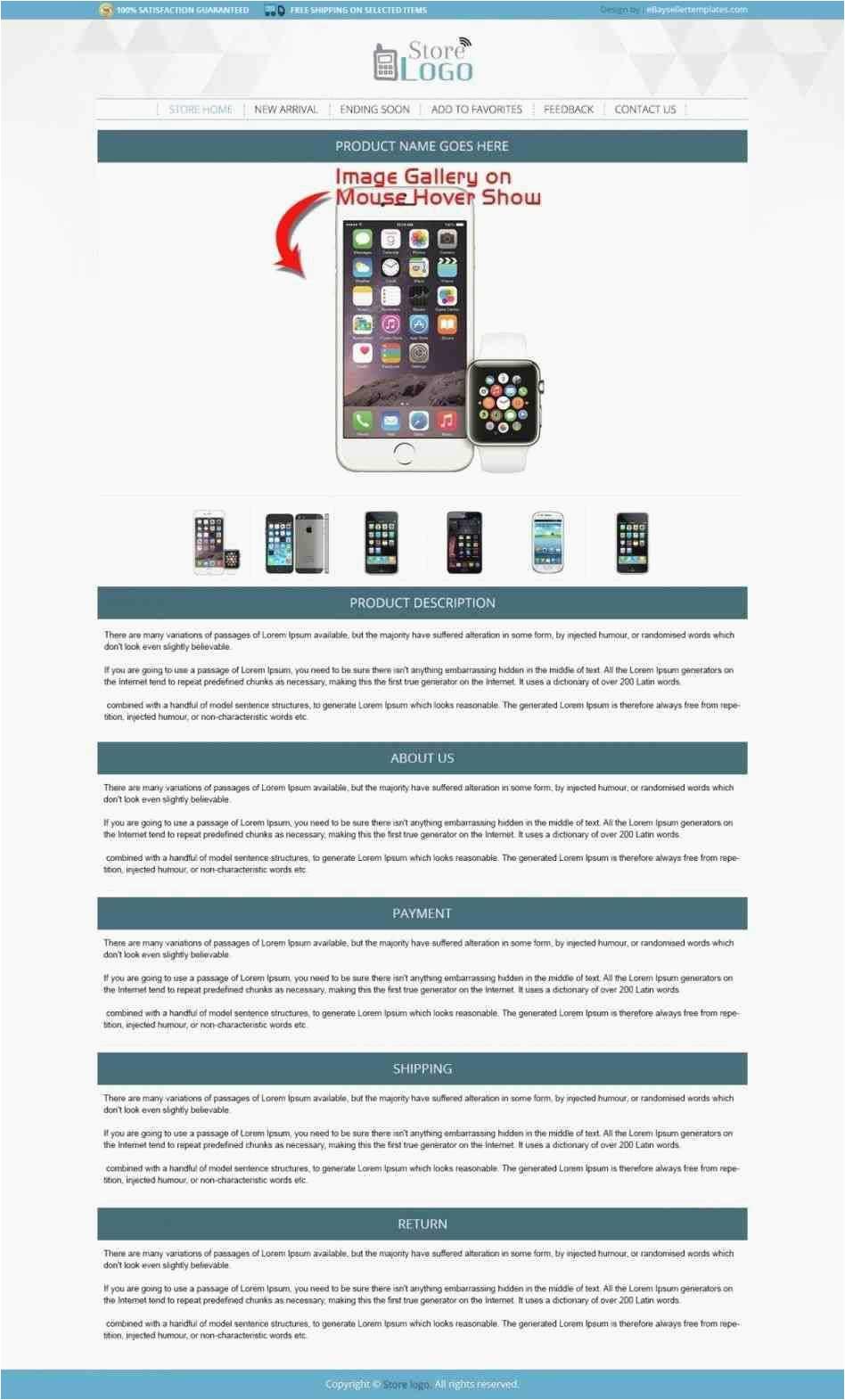 Ebay Listing Template Generator Beautiful Free Ebay Store Templates Kinoweb org