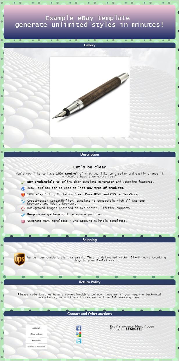 ebay listing template generator