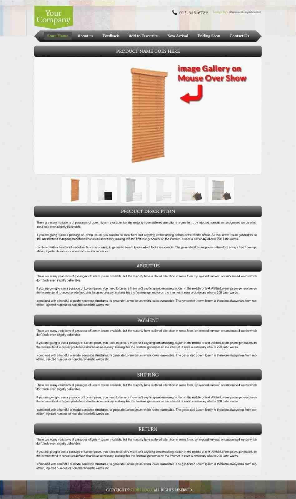 free professional ebay listing templates