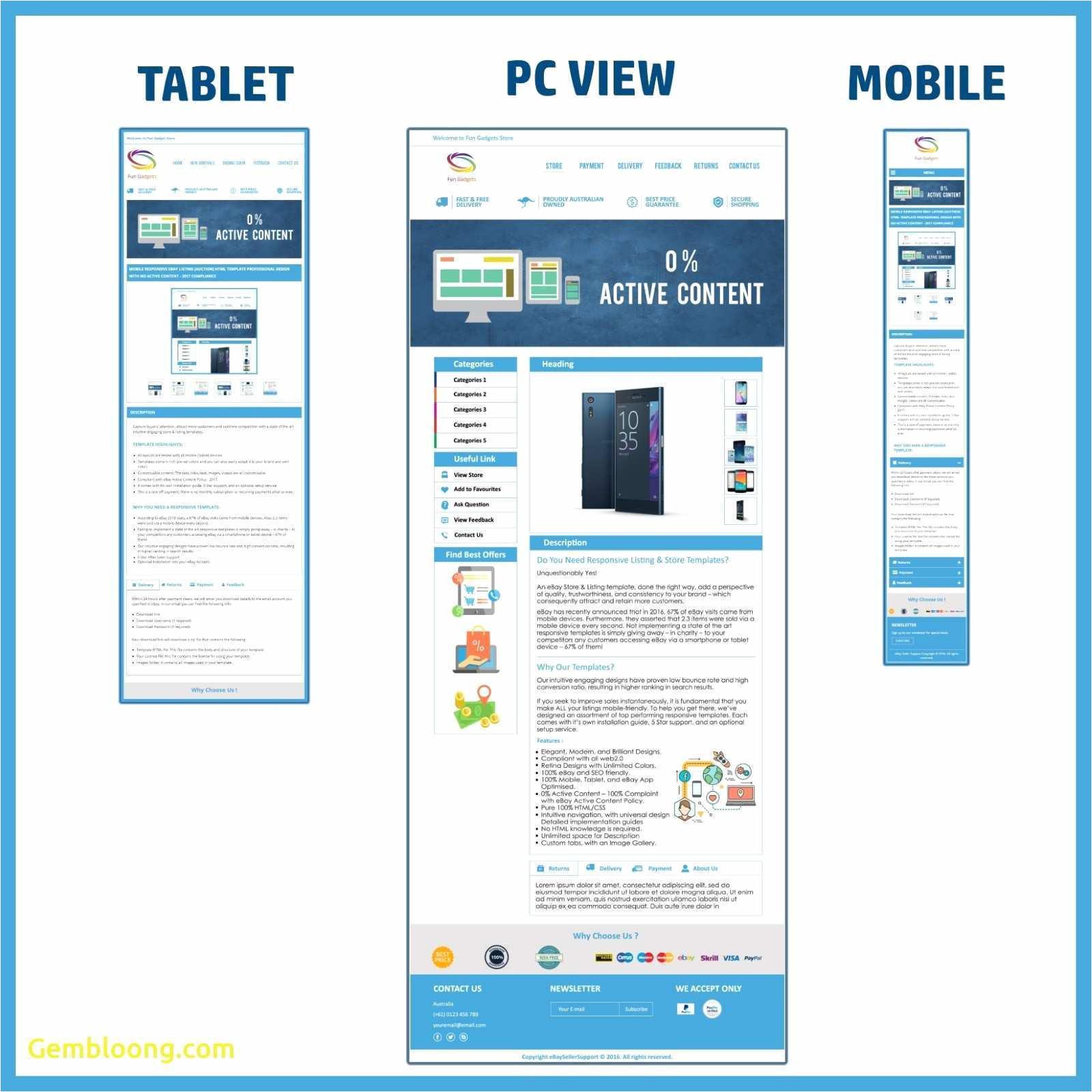 free ebay templates html