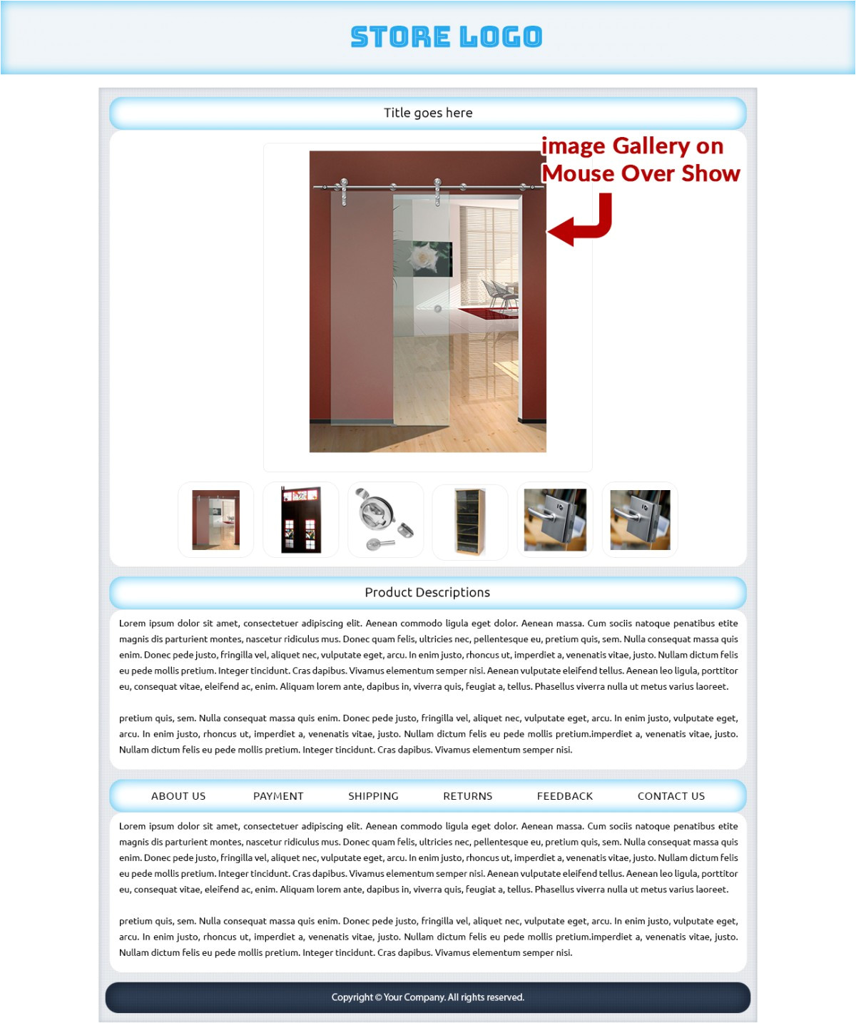 attractive ebay shop html listing mobile responsive templates for furniture