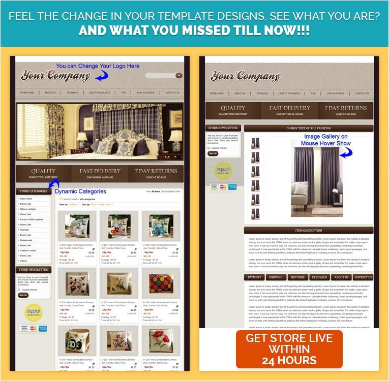 graceful ebay shop html ebay listing mobile responsive template for furnitures