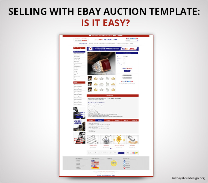 ebay selling template free