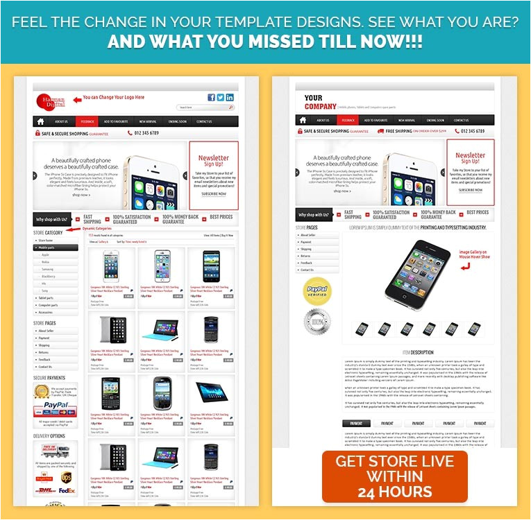 professional ebay store template ebay auction listing templates to sell smartphones