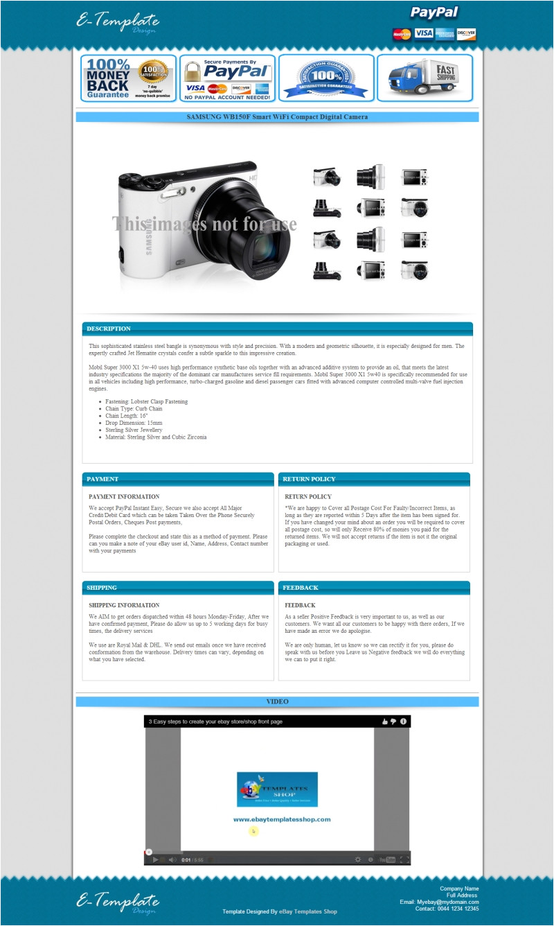 Ebay Storefront Template Ebay Listing Templates Cyberuse