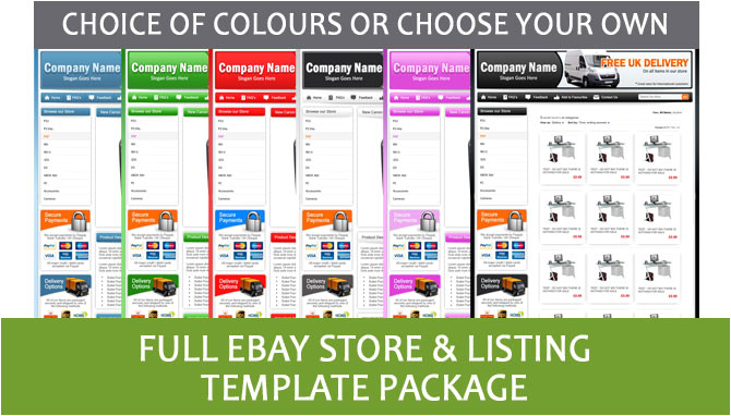 Ebay Storefront Template Professional Ebay Store Shop and Listing Template