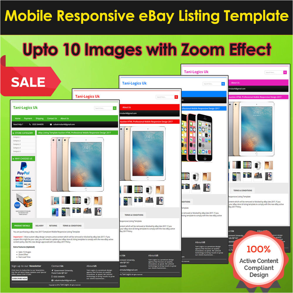 Ebay Template Design software Ebay Listing Template Auction HTML Professional Mobile