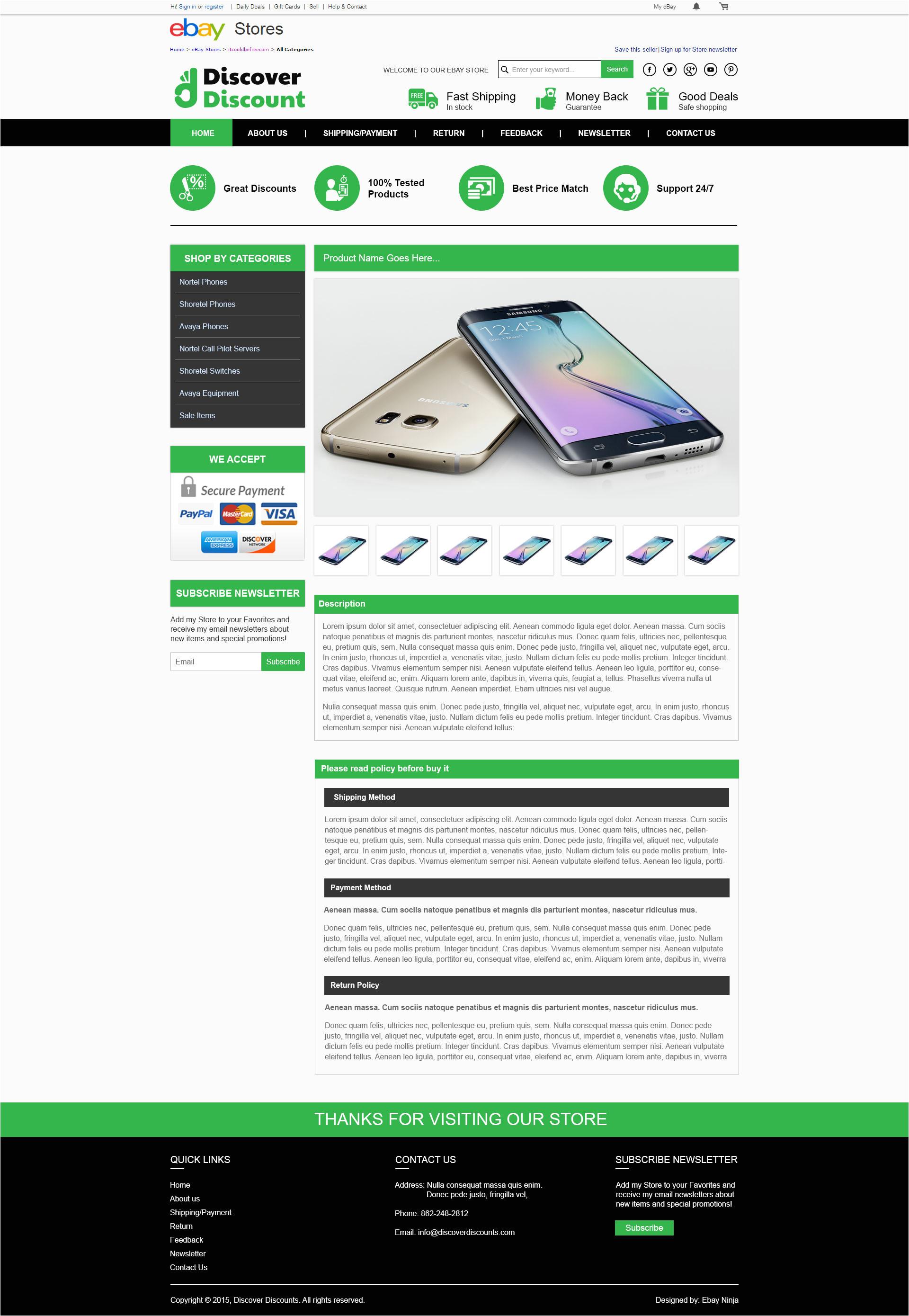 Ebay Template Design software Ebay Shop Listing Template Design for Discoverdiscount Com
