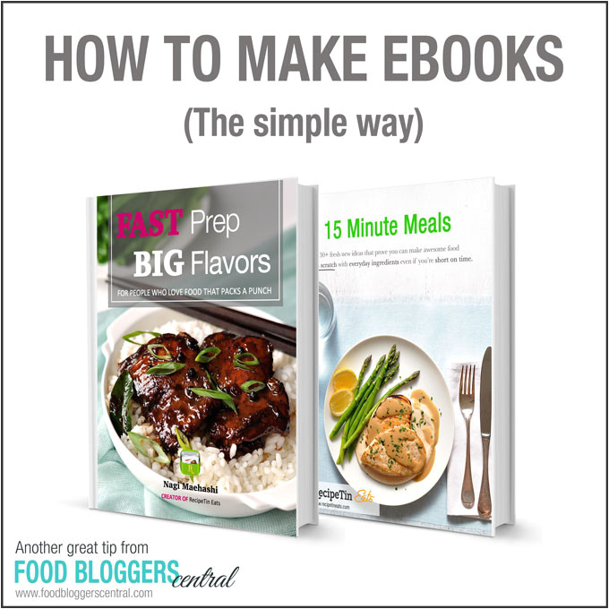 Ebook Cookbook Template the Simple Way to Make Ebooks Food Bloggers Central