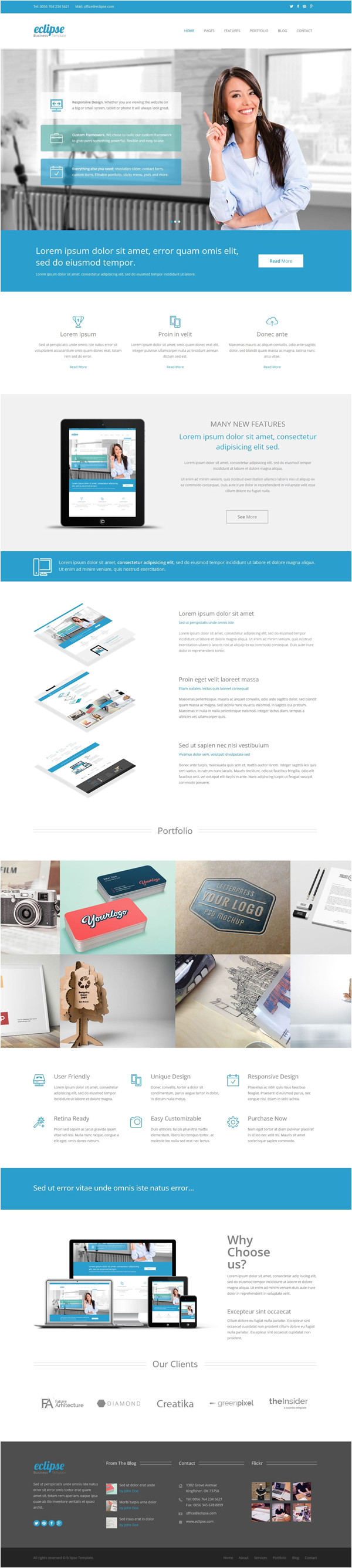 Eclipse HTML Template New HTML5 Responsive Templates with Modern User Interface