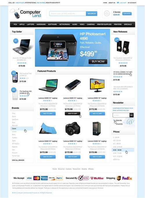 best 3dcart ecommerce templates