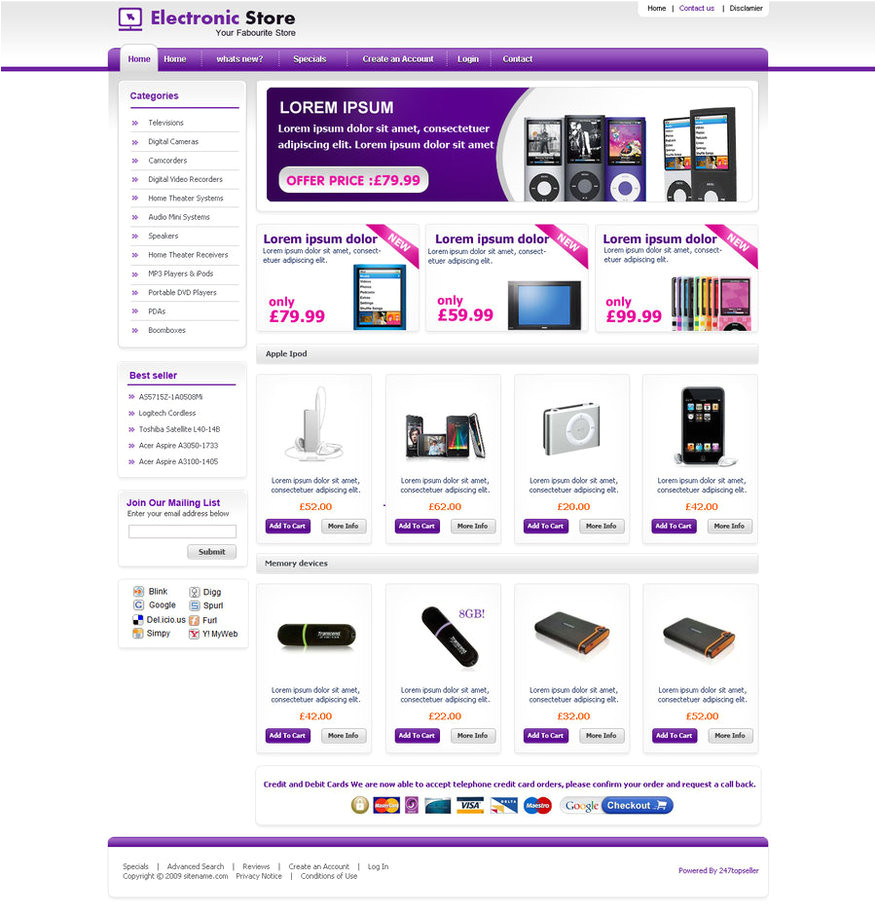 ecommerce template 209044512