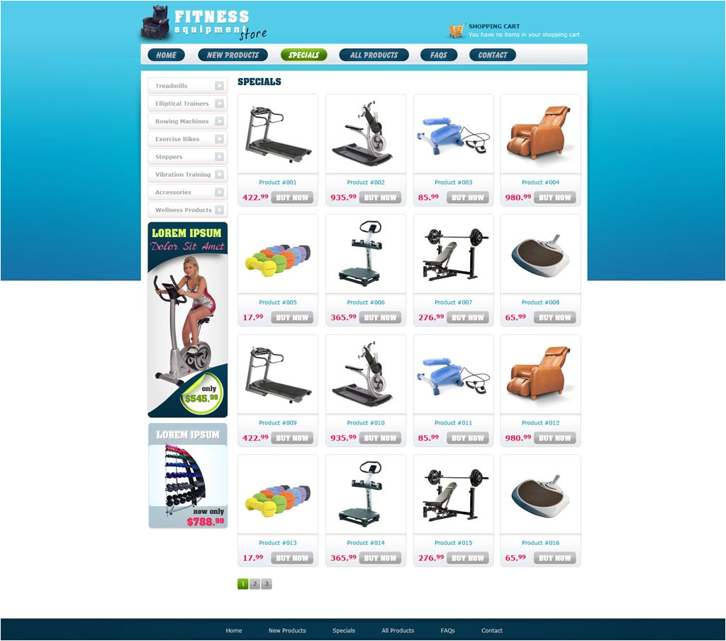 free ecommerce website template 101