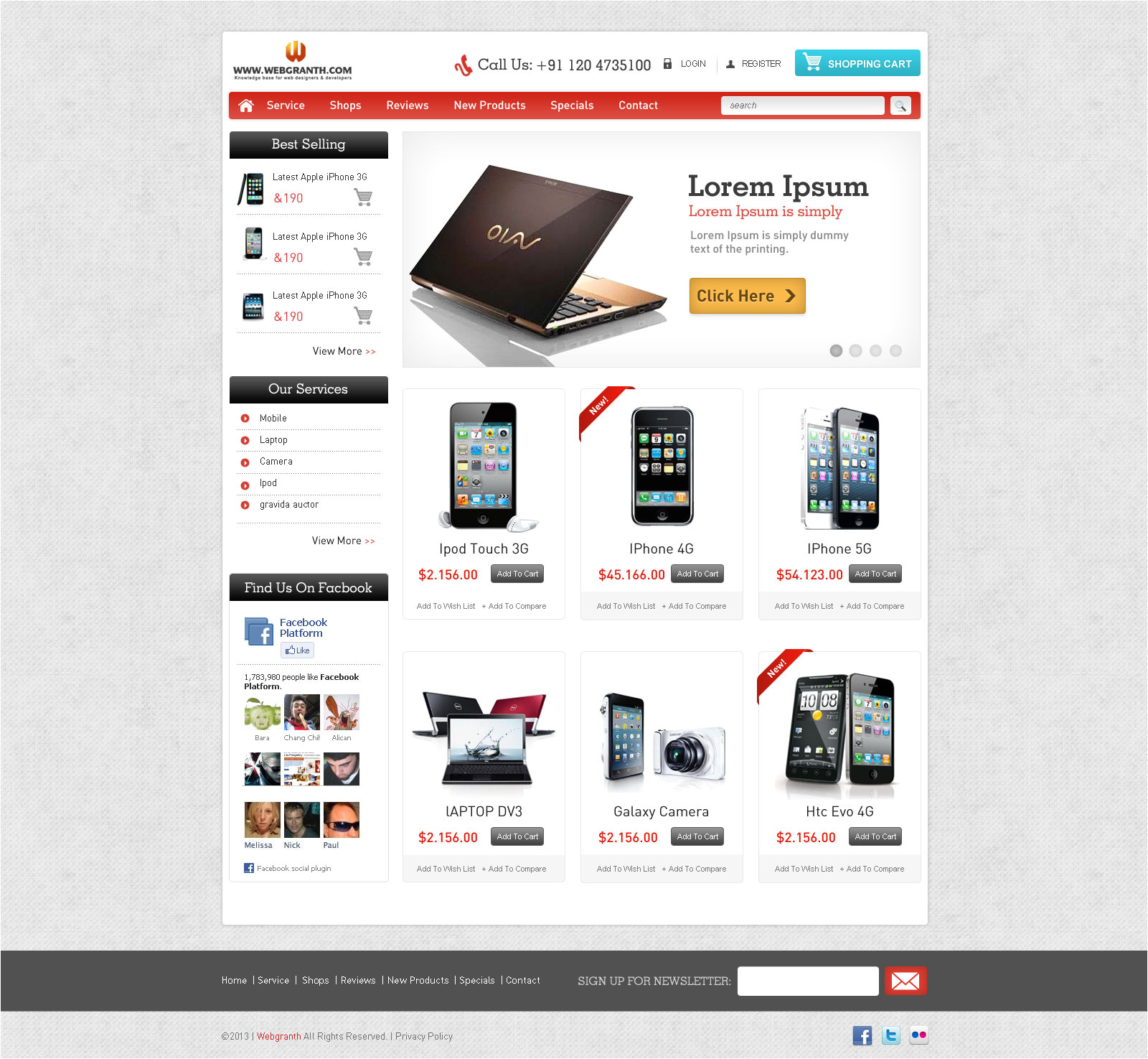 Ecomerce Template Free HTML Website Template Download E Commerce HTML