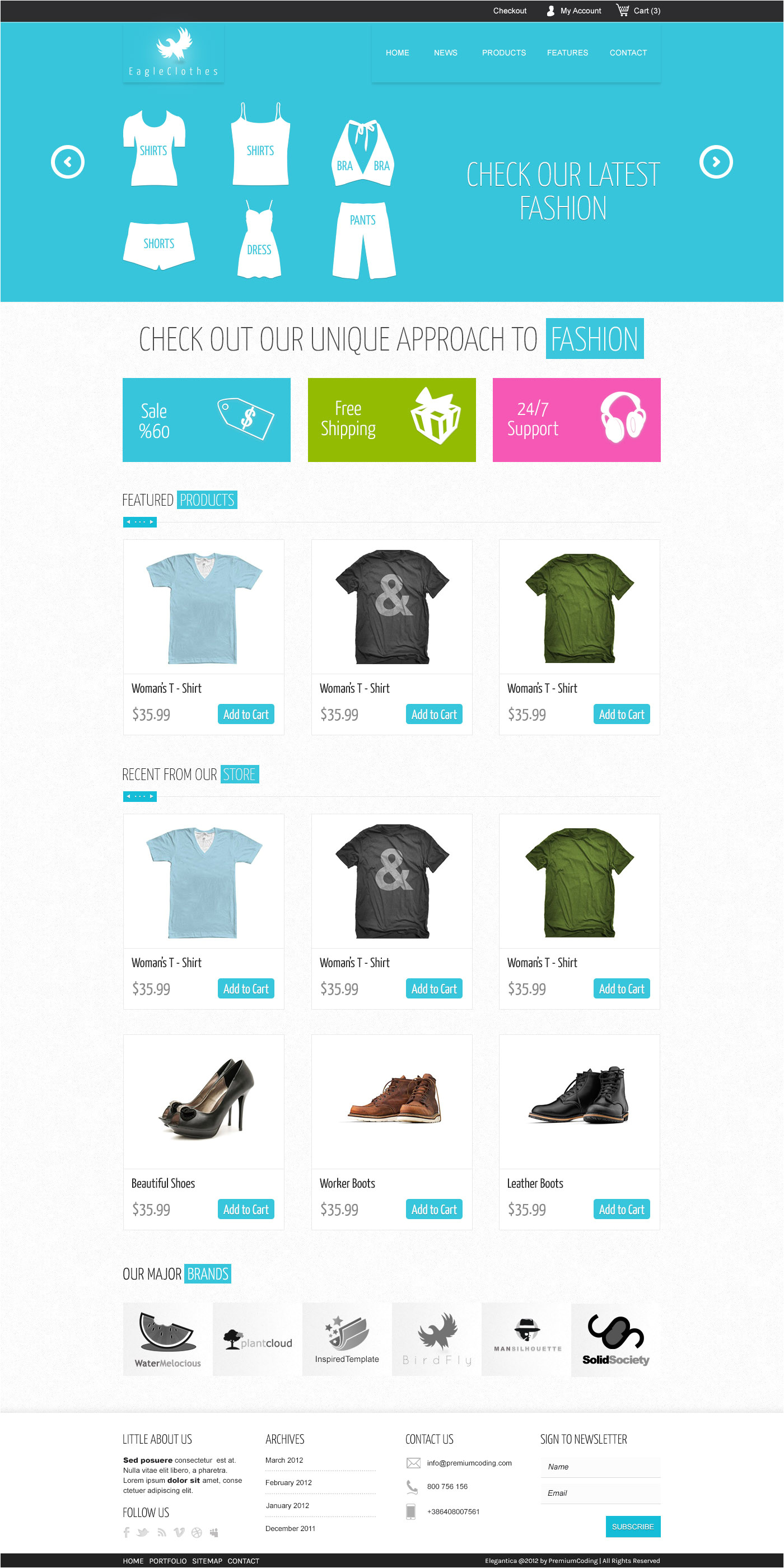 freebie ecommerce website template psd