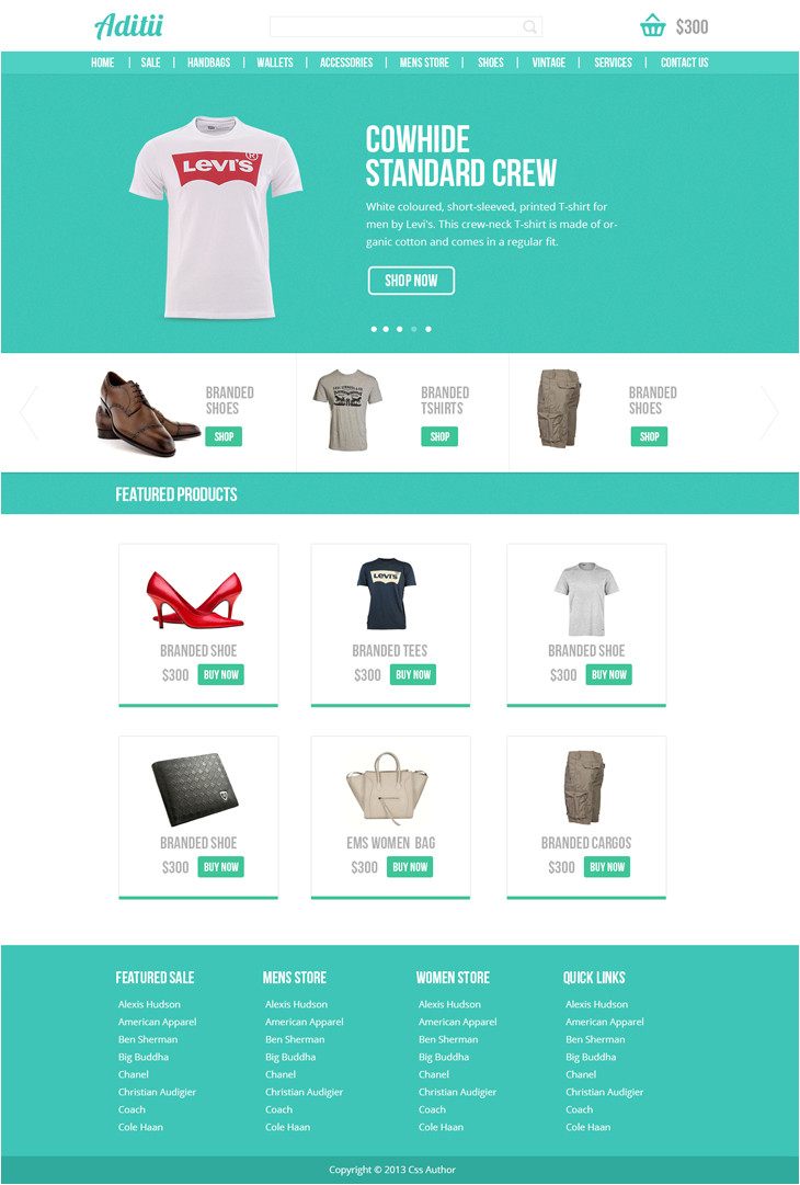 premium ecommerce website template