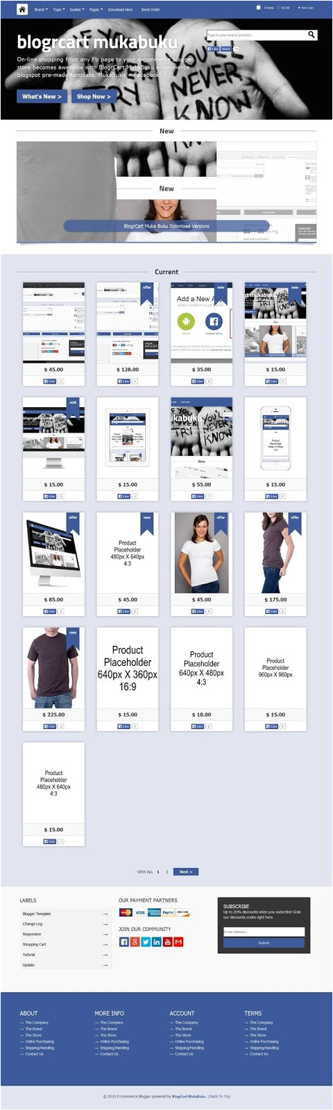 ecommerce blogger templates