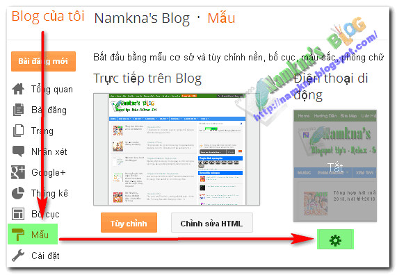 tuy bien giao dien mobile cho blogger