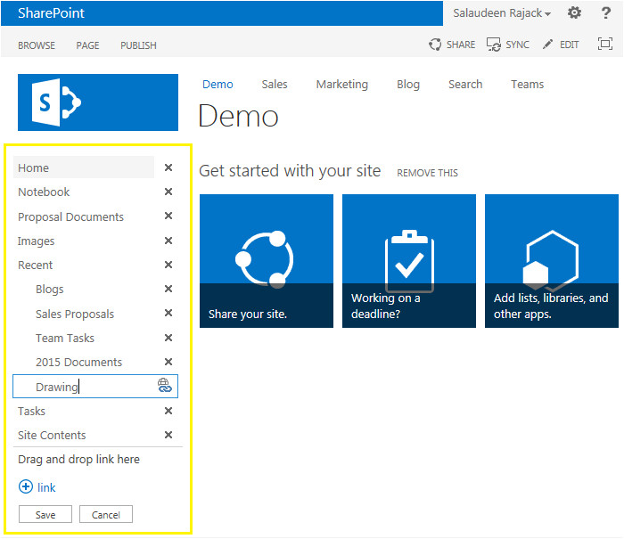 Edit Sharepoint Template Edit Links Missing In Sharepoint 2013 Navigation