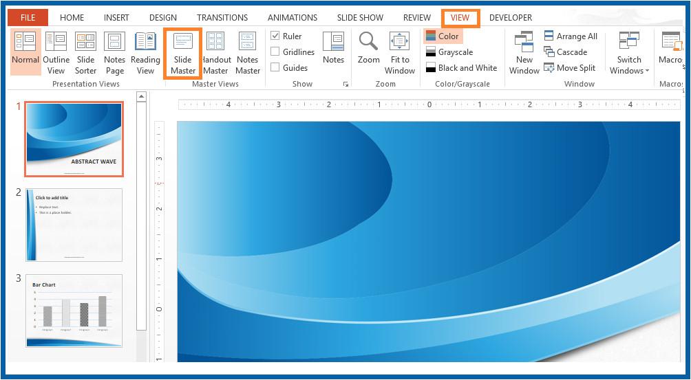 edit slide master presentation template