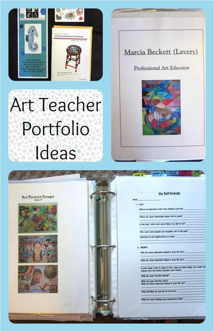 art teacher portfolio ideas for an interview