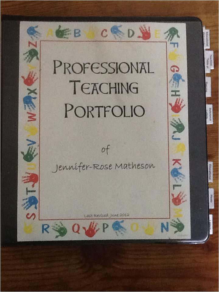 professional teaching portfolio intro