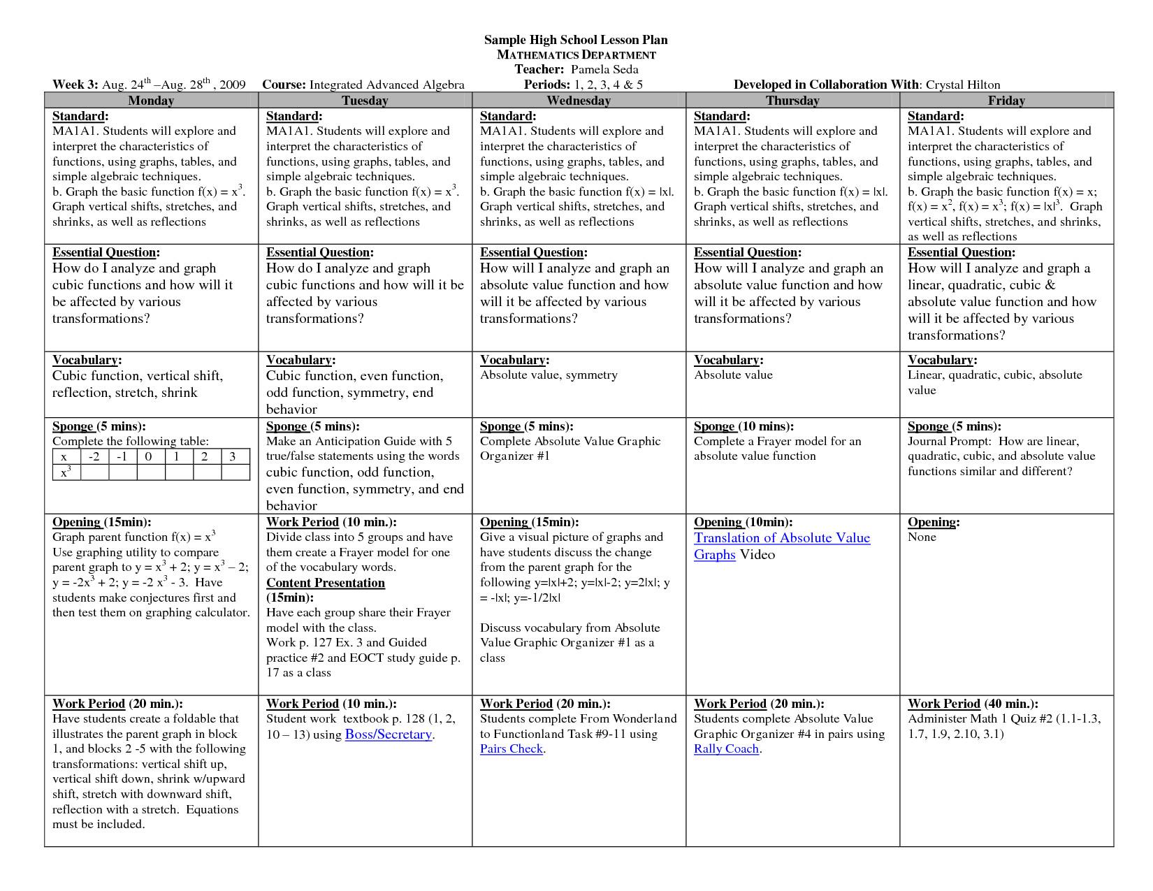 Efl Lesson Plan Template High School English Lesson Plan Template Templates Station