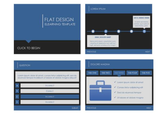 elearning and powerpoint templates
