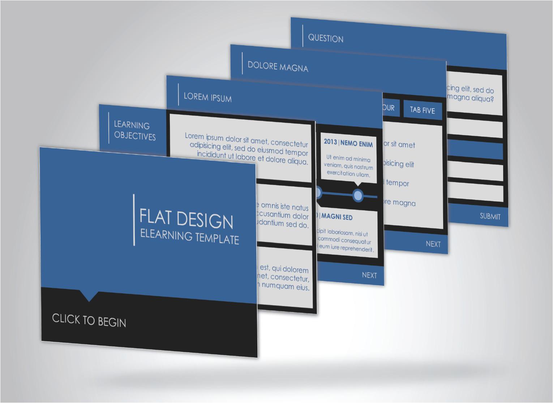 flat design elearning template