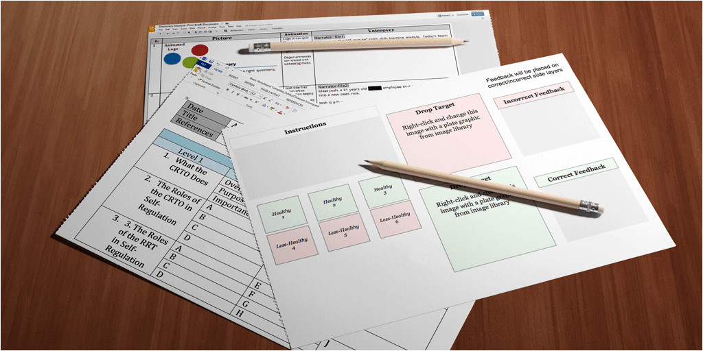 elearning storyboards templates