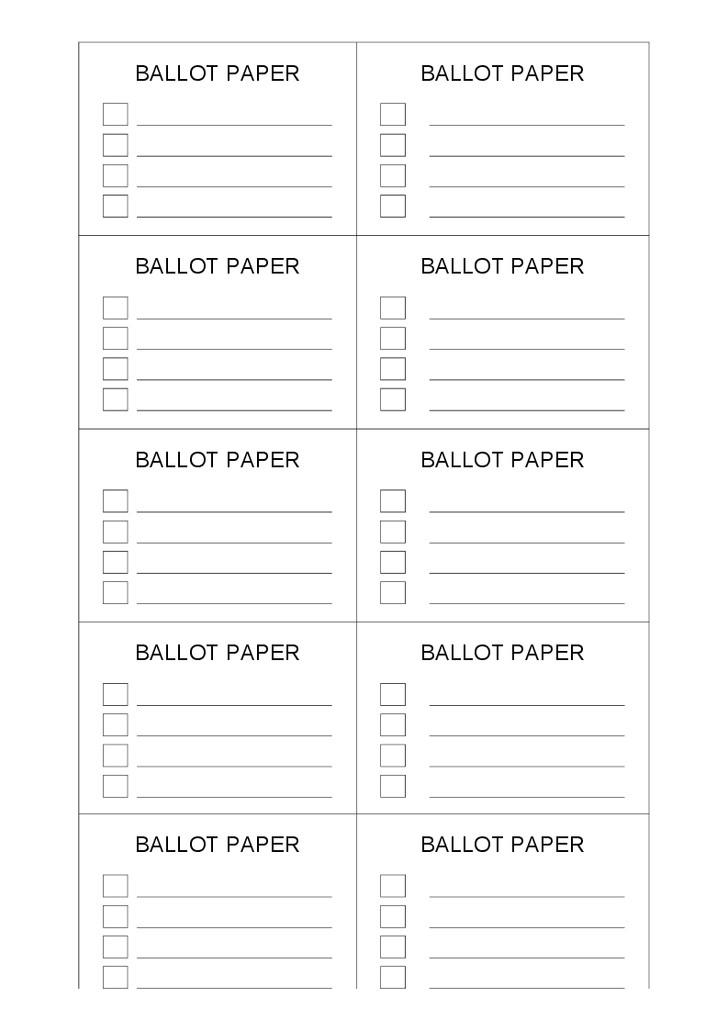 ballot ticket template