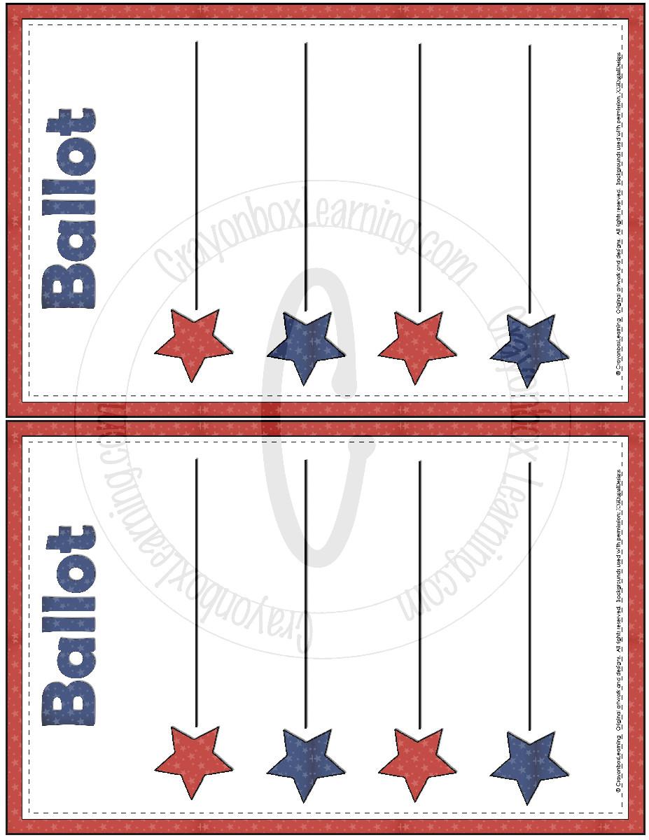 blank ballot template 4635