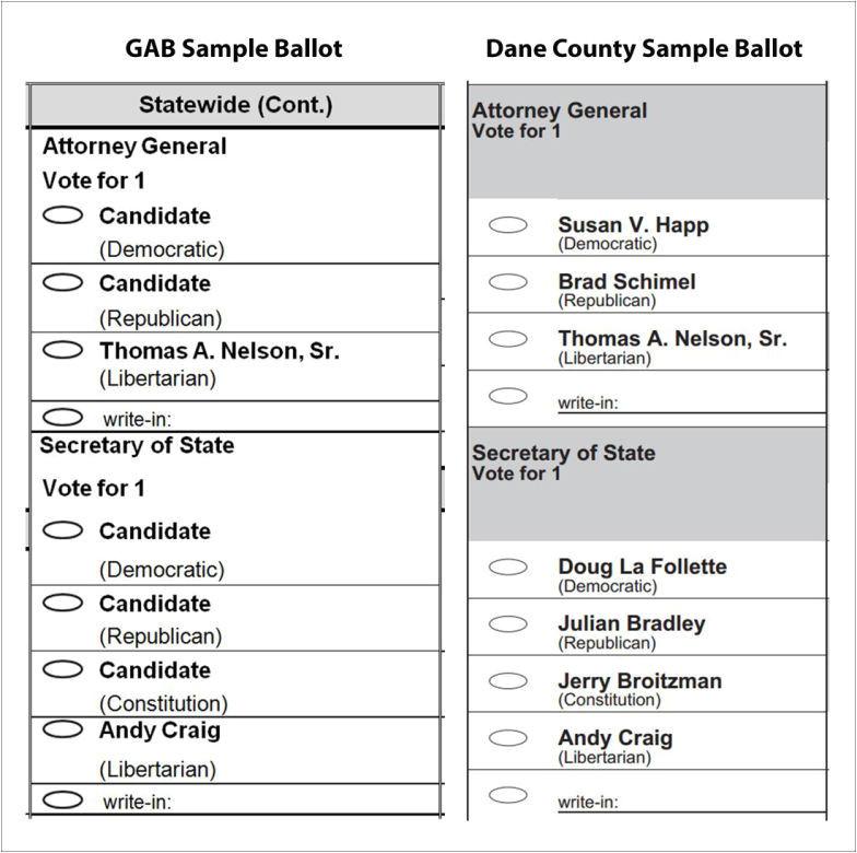 election ballot template