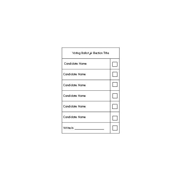 Election Ballots Template Election Ballot Template Word the Letter Sample
