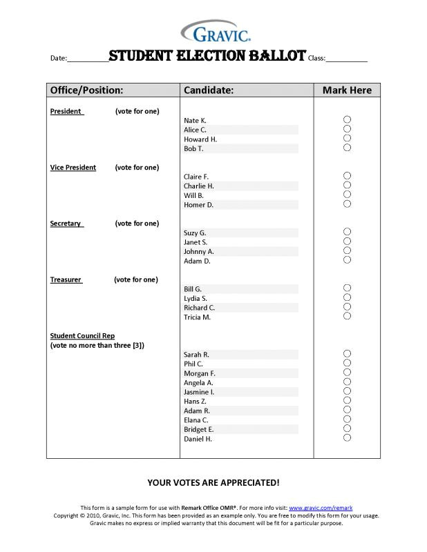 sample ballot template