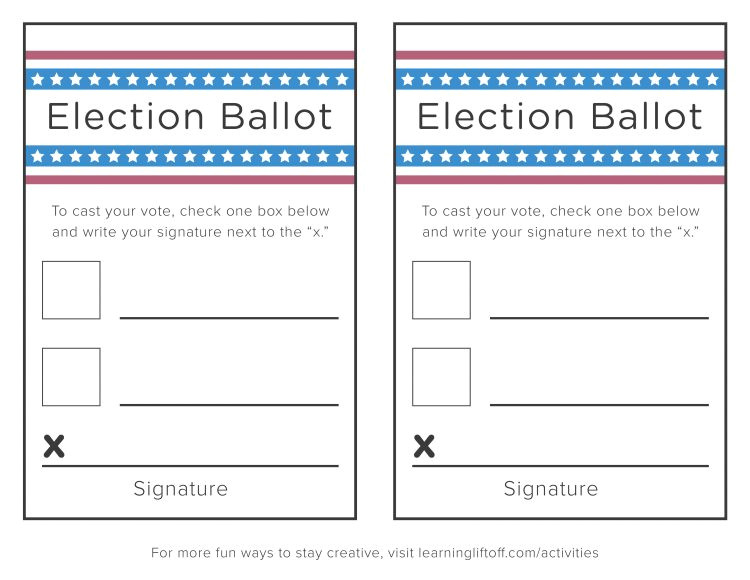 voting printables for kids