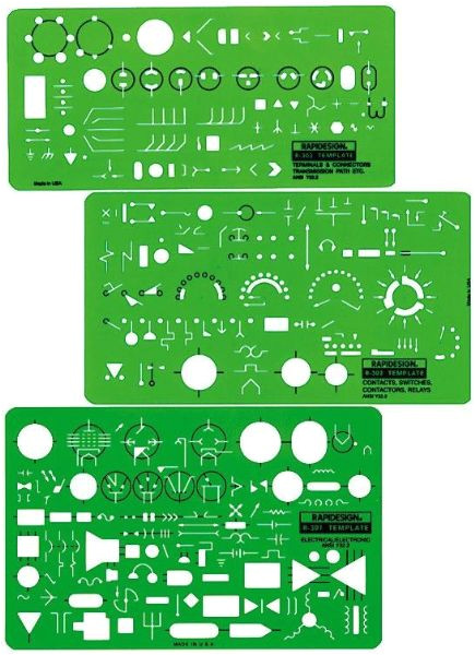 template electrical electronic 300r