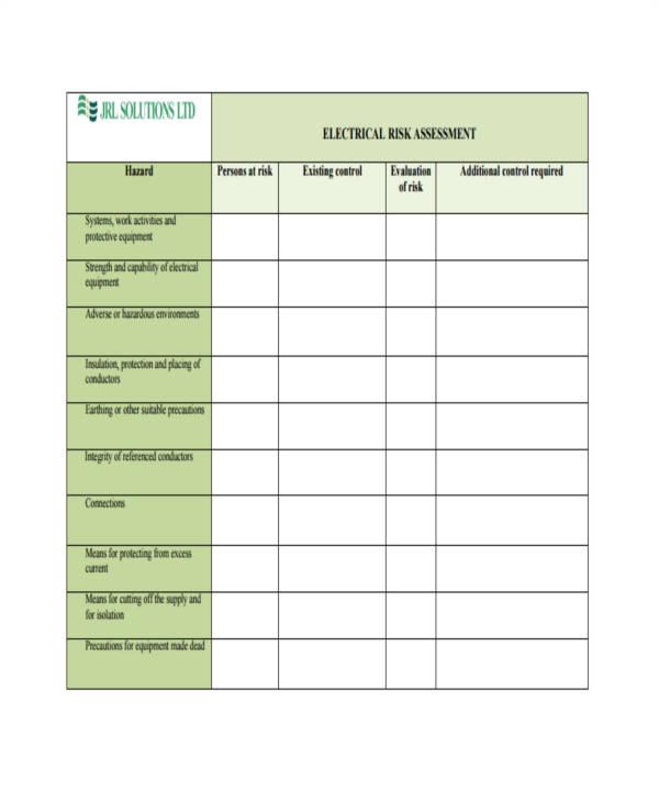 risk assessment in pdf