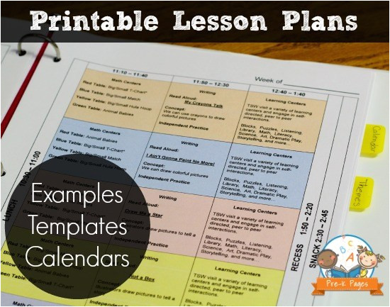 Electronic Lesson Plan Template Search Results for Printable Lesson Plan Template for