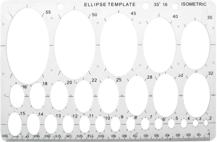 Elipse Template Ellipse Oval Drawing Template Art Sh02e Ebay