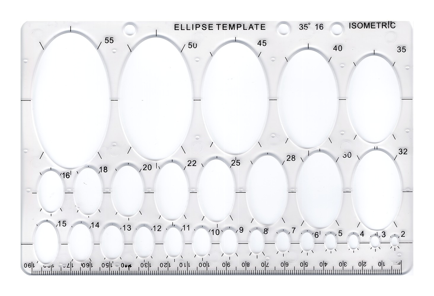 Elipse Template Ellipses Template Ebay