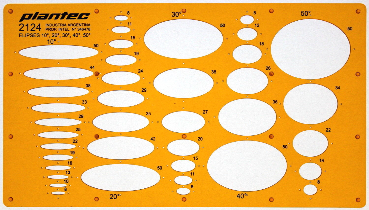 metric ellipse ellipses drawing drafting template stencil 10 170708262203
